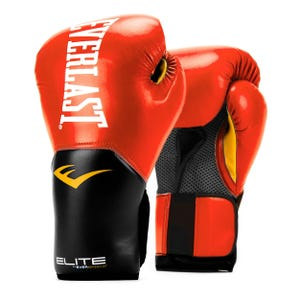 Guantes Box Everlast Pro Stile Elite TRN Rojo/Negro
