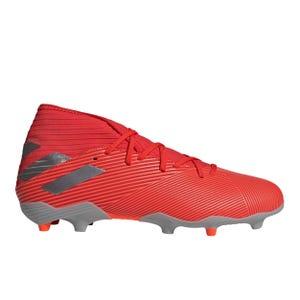 Zapatos Fútbol Hombre Adidas Nemeziz 19.3 FG Rojo/Plata