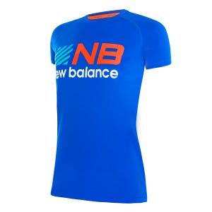 Polera Running Niño New Balance Tenacity Azul