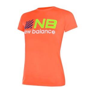 Polera Running Niño New Balance Tenacity Naranja