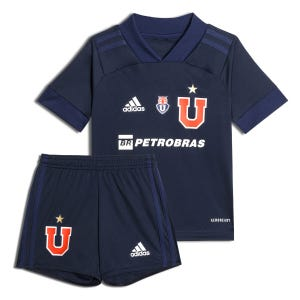 Uniforme Niño Fútbol Adidas Universidad de Chile Home 2020 Azul