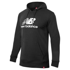 Polerón Hombre New Balance Essentials Stacked Logo Pullover Gris