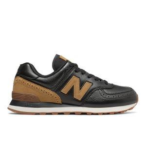 Zapatillas Urbanas Hombre New Balance 574 Negra/Café