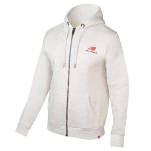 Poleron Running Hombre New Balance Full Zip Blanco