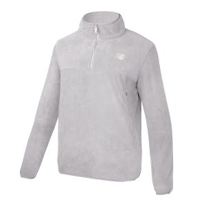Polerón Polar Outdoor Hombre New Balance Quarter Zip Gris