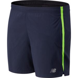 Short Running Hombre New Balance Accelerate 5 In Azul/Verde