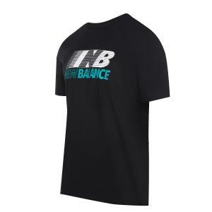 Polera Hombre New Balance Lifestyle Logo NB Negro