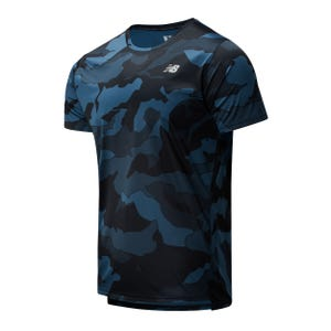 Polera Running Hombre New Balance  Printed Accelerate SS Multicolor