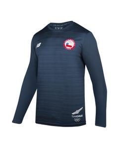 Polera Entrenamiento Hombre New Balance Team Chile 2019 Azul Marino