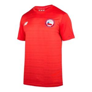 Polera Entrenamiento Hombre New Balance Team Chile 2019 Roja