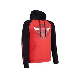 Polerón Básquetbol Hombre NBA Fanwear NBA Chicago Bulls Rojo