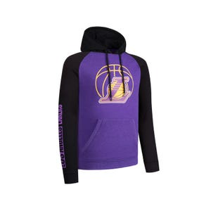 Polerón Básquetbol Hombre Fanwear NBA Los Angeles Lakers Negro/Morado