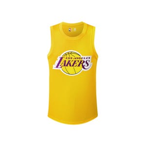 Camiseta Tank Top Básquetbol Hombre NBA Los Angeles Lakers Lebron James Amarillo
