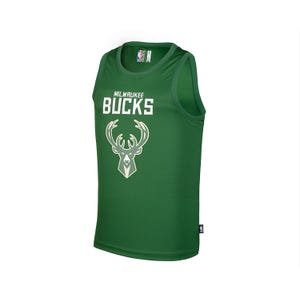 Camiseta Tank Top Básquetbol Hombre NBA Milwaukee Bucks Verde