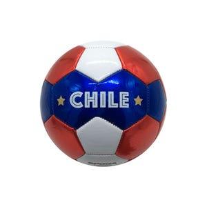 Mini Balón Fútbol Spoga Chile Blanco/Azul/Rojo