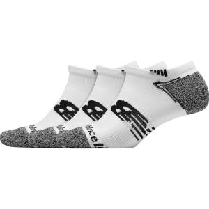 Calcetines 3 pares Running Unisex New Balance No Show Blanco