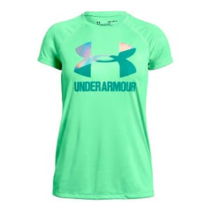 Polera Training Niña Under Armour Big Logo Tee Solid Verde