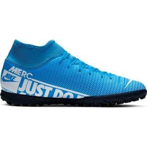 Zapatillas Futbolito Hombre Nike Mercurial Superfly 7 Club TF Celeste/Blanca