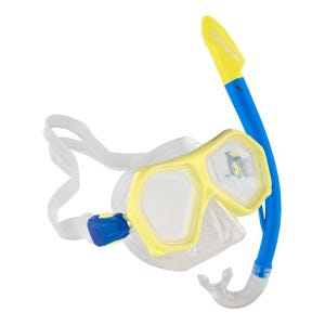 Snorkel Speedo Leisure Junior Dual Lenses Combo Amarillo