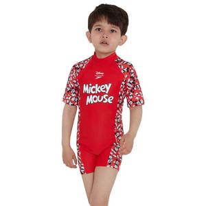 Traje de Baño Niño Speedo All in One Mickey Mouse Rojo