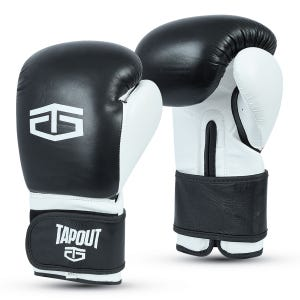 Guantes Boxeo Hombre Tapout Box Leather PU Negro