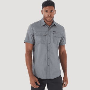 Camisa Outdoor Hombre ATG by Wrangler Cottonwood Gris