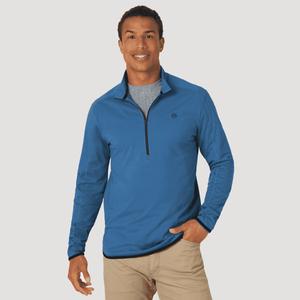 Poleron Outdoor Hombre ATG by Wrangler LS 1/2 ZIP Pullover Azul