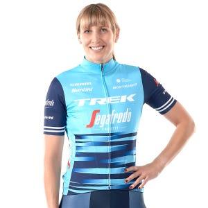 Tricota Ciclismo Mujer Trek Santini Trek Factory Racing XC Réplica Azul Bicolor