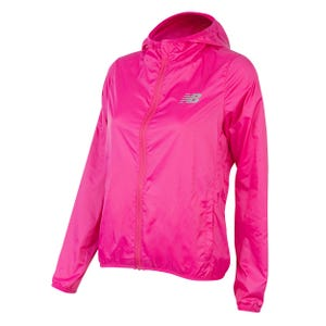 Cortaviento Running Mujer New Balance Empacable Solid Fucsia