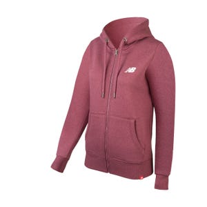 Poleron Running Mujer New Balance Full Zip Burdeo