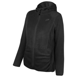 Polerón Polar Outdoor Mujer New Balance Full Zip Negro