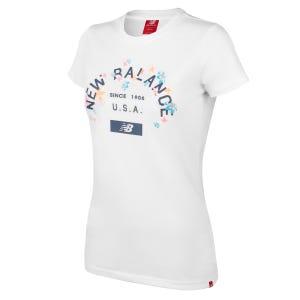 Polera Running Mujer New Balance Life Style Blanca