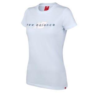 Polera Running Mujer New Balance Life Style Celeste