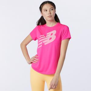Polera Running Mujer New Balance Printed Accelerate Rosada