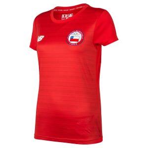 Polera Entrenamiento New Balance Mujer Team Chile Rojo