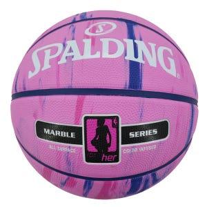 Balón Básquetbol Spalding NBA Marbel 4Her Series N°6 Rosado