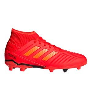 Zapatos Fútbol Niño Adidas Predator 19.3 FG Rojo
