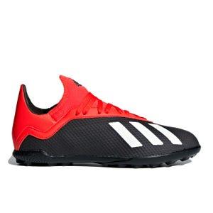 Zapatillas Futbolito Niño Adidas X 18.3 TF Negro/Rojo