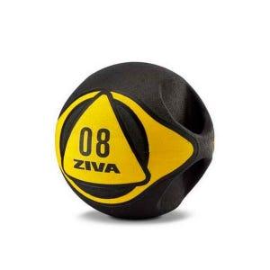 Balón Medicinal Ziva 8 Kg con AsasNegro/Amarillo